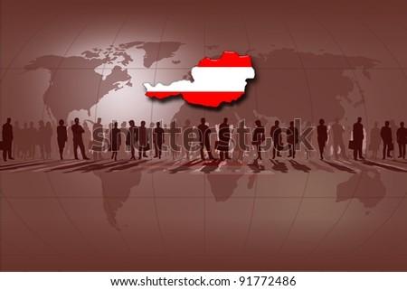 European Union countries: Austria - stock photo