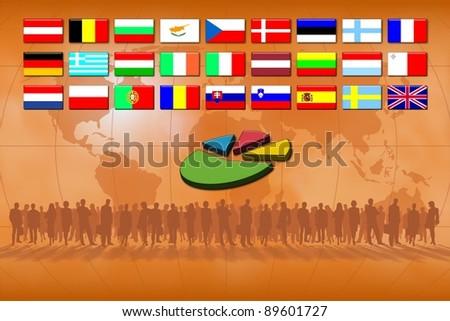 European Union countries: statistics - stock photo
