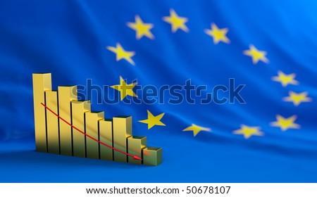 european union crisis - stock photo