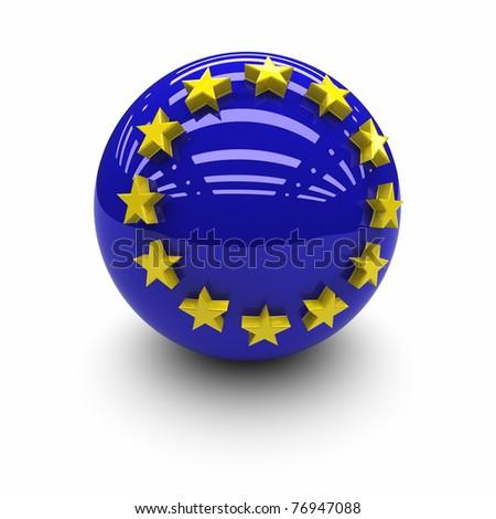European Union Flag. - stock photo
