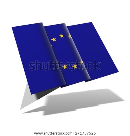 European Union flag 3D banner - stock photo