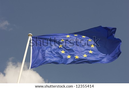 European Union Flag waving in the wind.