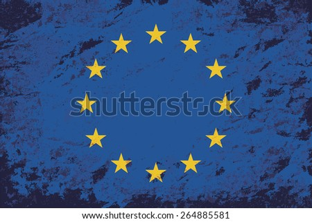 European Union Grunge background. Raster version - stock photo