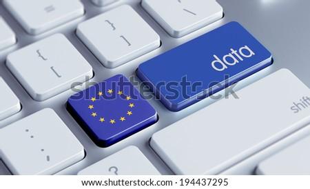 European Union High Resolution Data Concept - stock photo