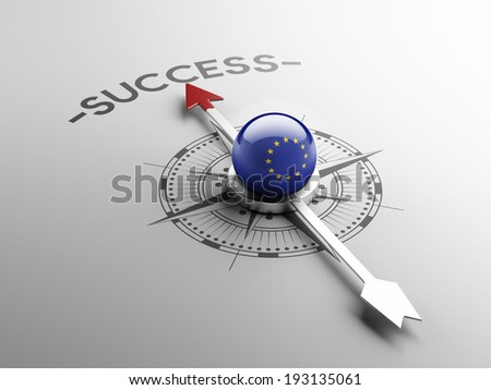 European Union High Resolution Success Concept - stock photo