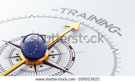 European Union High Resolution Training Concept - stock photo