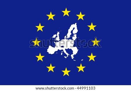 European Union - in flag