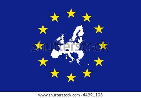 European Union - in flag - stock photo