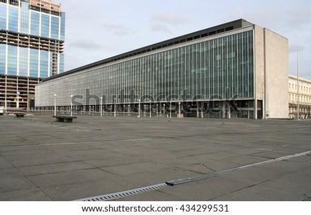 European Union office buildings in Brussels, Belgium - stock photo