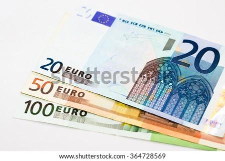 Euros - 100, 50 and 20 euro - stock photo