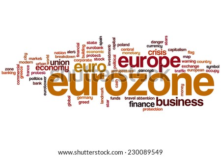 Eurozone word cloud concept