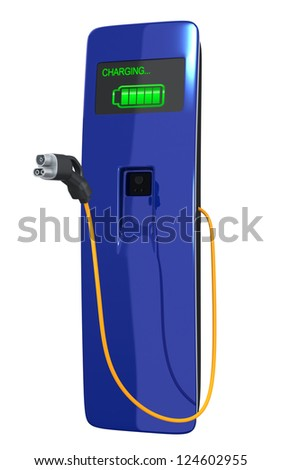 EV charger - stock photo