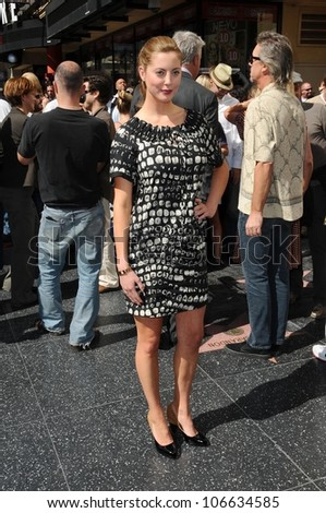 Eva Amurri  at the Hollywood Walk of Fame Ceremony Honoring Tim Robbins. Hollywood Boulevard, Hollywood, CA. 10-10-08
