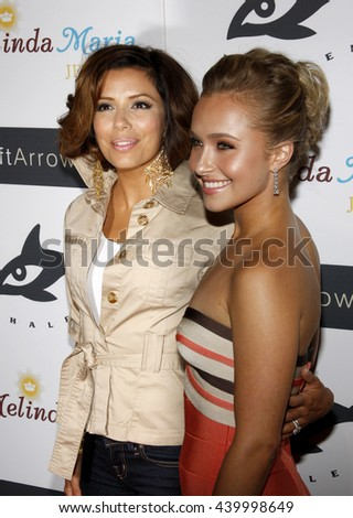 Eva Longoria and Hayden Panettiere at the Whaleman Foundation benefit held at the Beso, Hollywood, USA on August 10, 2008.
