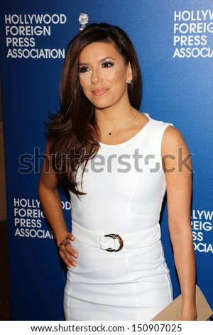 Eva Longoria at the Hollywood Foreign Press Association's 2013 Installation Luncheon, Beverly Hilton, Beverly Hills, CA 08-13-13 - stock photo