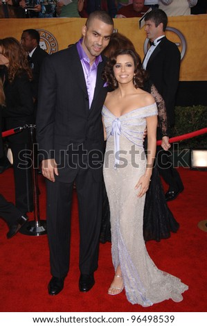 EVA LONGORIA & boyfriend TONY PARKER at the 12th Annual Screen Actors Guild Awards at the Shrine Auditorium, Los Angeles. January 29, 2006  Los Angeles, CA  2006 Paul Smith / Featureflash