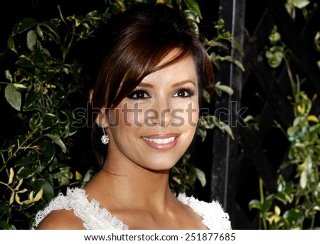 Eva Longoria Parker arrives to the opening of Beso Restaurant held at the Beso in Hollywood, California, United States on March 6, 2008.  - stock photo