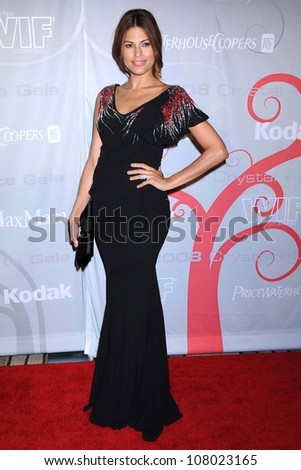 Eva Mendes  at the 2008 Crystal And Lucy Awards Gala. Beverly Hilton Hotel, Beverly HIlls, CA. 06-17-08 - stock photo