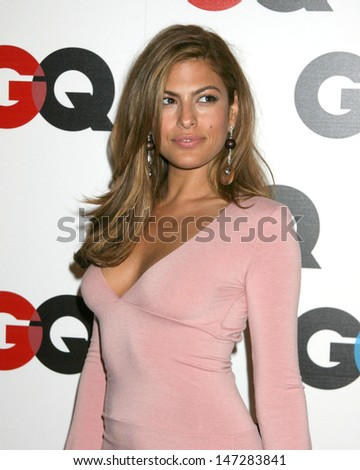 Eva Mendes GQ Magazine 2005 Men of the Year Party Mr Chow Beverly Hills Beverly Hills, CA December 1, 2005 - stock photo