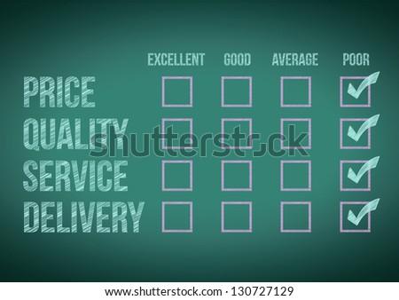 evaluate customer survey form illustration design over a white background - stock photo