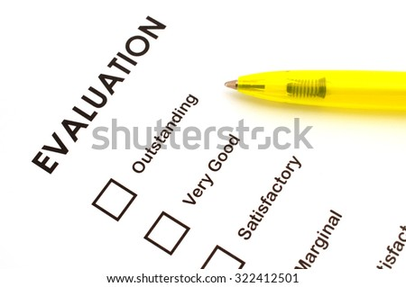 Evaluating card - stock photo