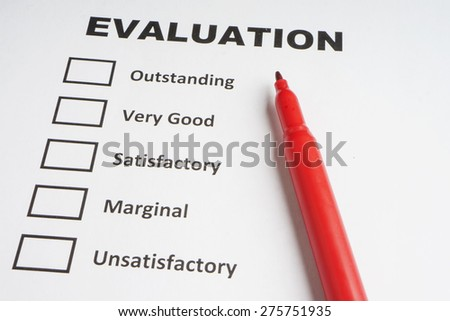Evaluation checklist - stock photo