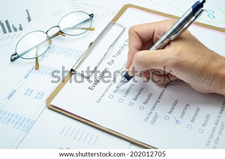 Evaluation form  - stock photo