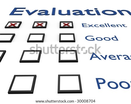 Evaluation. High resolution 3D render. - stock photo