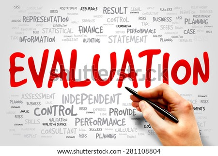 Evaluation Word Cloud Business Concept Stock Photo