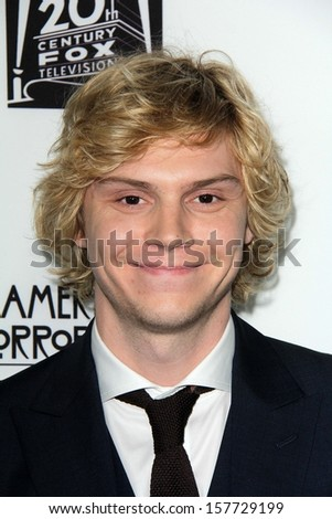 """Evan Peters at the """"American Horror Story Coven"""" Red Carpet Event, Pacific Design Center, West Hollywood, CA 10-05-13 - stock photo"""