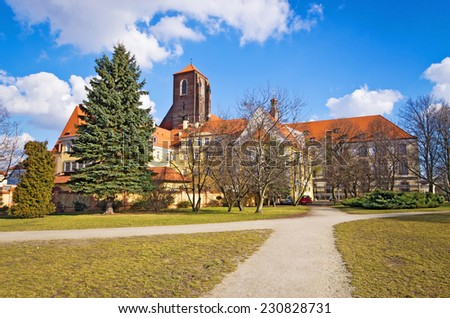 Evangelical  church on Piasek Island, Wroclaw, Poland - stock photo