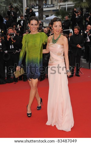 "Evangeline Lilly & Michelle Yeoh at the premiere of Woody Allen's ""You Will Meet A Tall Dark Stranger"" at the 63rd Festival de Cannes. May 15, 2010  Cannes, France Picture: Paul Smith / Featureflash - stock photo"