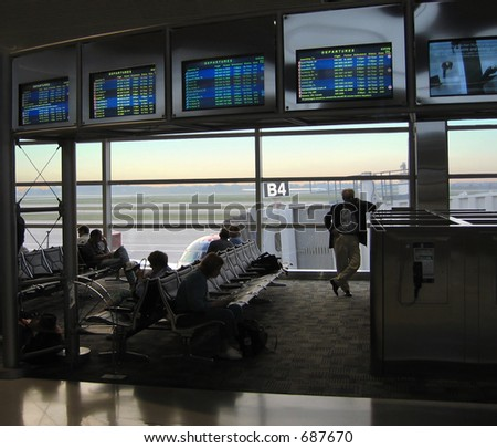 Even early morning flights are often delayed - stock photo