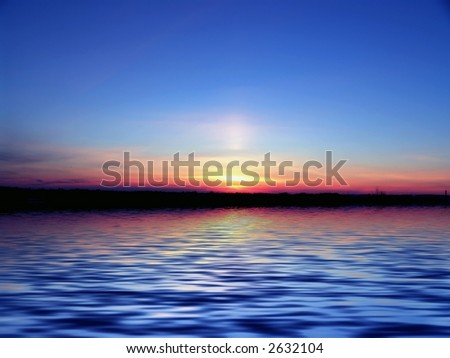Evening - stock photo