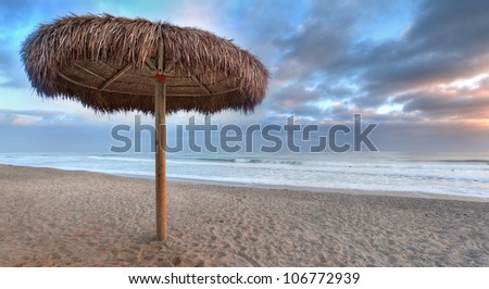 Evening at a Beach - stock photo