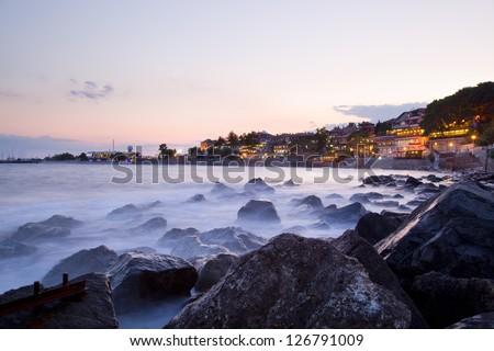 Evening at Nessebar, Bulgaria - stock photo
