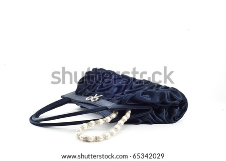 Evening bag ladies on a white background