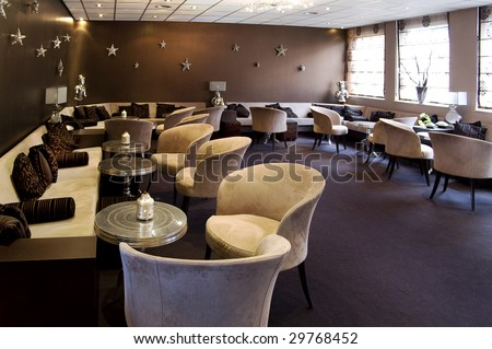 evening cafe - stock photo