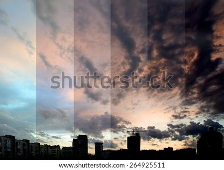 evening city Donetsk - stock photo