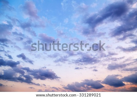 Evening cloudy sky - stock photo