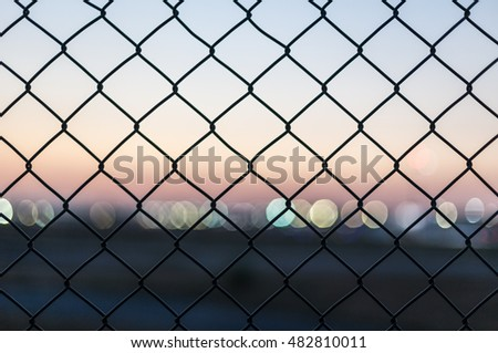 evening fence background