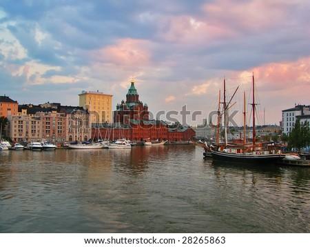 Evening Helsinki - stock photo