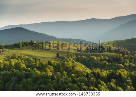 Evening in the Carpathians