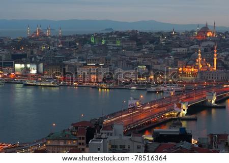Evening Istanbul - stock photo