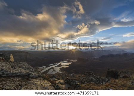 evening mood, Rapa Valley, Lapland, Sweden