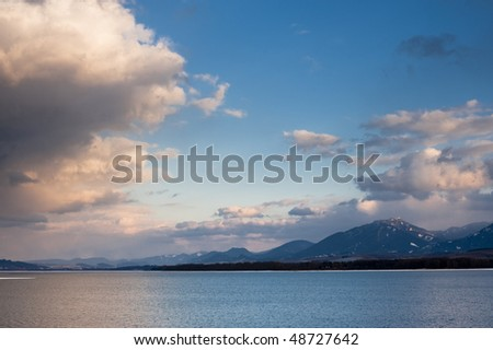 evening over lake