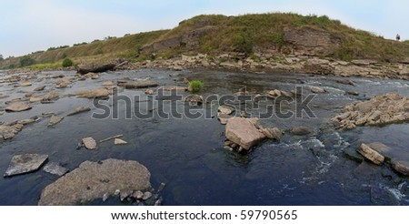 evening river - stock photo