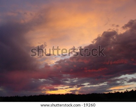 Evening Sky after a storm. - stock photo