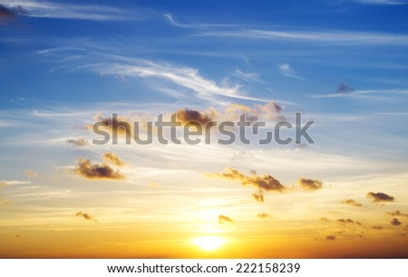 evening sky background. Element of design. - stock photo