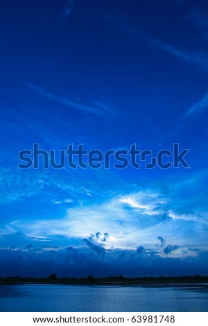 Evening sky, sunset - stock photo